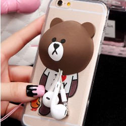 Bear Rabbit Bunny Silicone Winder Lovely IPhone 5/5s/6/6p Cases