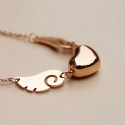 Rose Gold Heart Shape Pendant Necklace