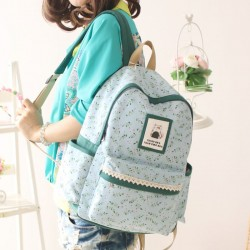 Fresh Floral Pastoral Leaf College Backpacks