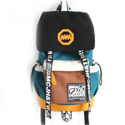 Retro Fashion Trunk Travel Letters Canvas Backpack