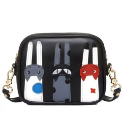 Lovely Cartoon Cat Messenger Bag Kitten Patch Shoulder Bag