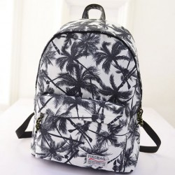 Leisure Coconut Tree Fresh College Backpacks