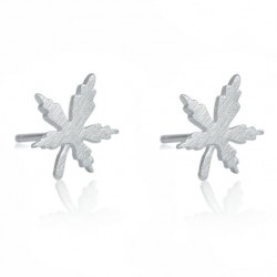 Cute Silver Mini Leaves Earring Quaint Girl's Simple Maple Leaf Brushed Earring Studs
