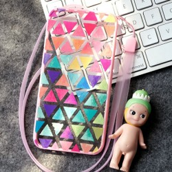 Fashion Multicolor Geometry Triangle Pattern IPhone 6/6p Soft Cases