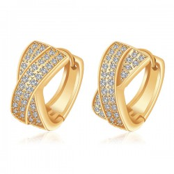 Luxury Gold Plated Hand-inlaid Zircon Earring