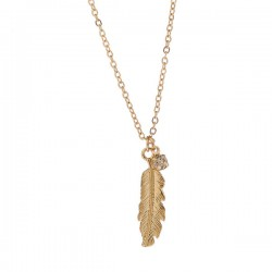 Angel's Feather Diamond Pendant Elegant Necklace