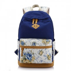 Fresh Mixed Colors Floral Pattern Trunk School Bag Travel Computer Backpack
