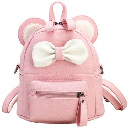 Cute Mini Bow Kitty Ears Small Cartoon School PU Backpacks