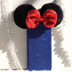 Snow White Bow Sequin Iphone 4/4s/5/5s/6/6s Cases