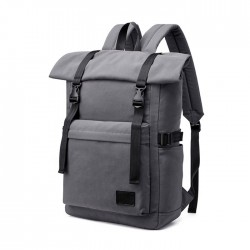 Leisure Double Buckle Outdoor Waterproof Backpack Business Computer Bag Laptop Travel Backpack