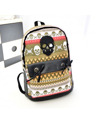 Fashion Graffiti Geometry Skull Personalized Backpack