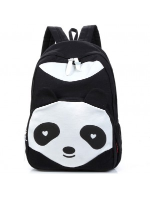 Cartoon Lovely Panda School Rucksack Animal College Canvas Backpack