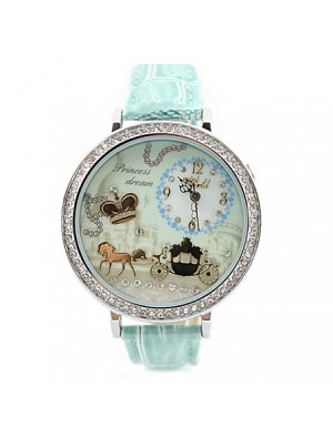 Crown Rhinestone Trim Polymer Clay Watch