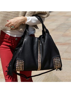 New Classic Fashion Rivets Large Capacity Shoulder Bag Messenger bag Handbag