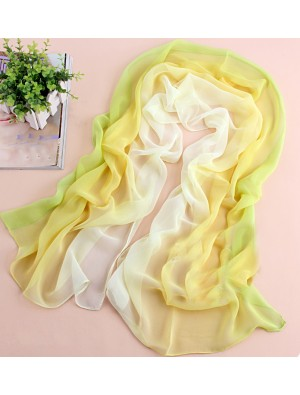 yellow fix green tie-dye gradient infinity scarf
