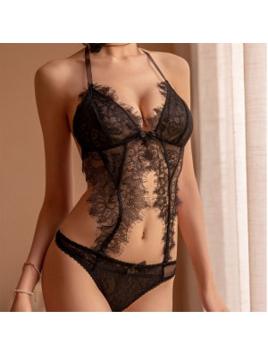Sexy Lace Conjoined Hollow Sling Women Intimate Lingerie