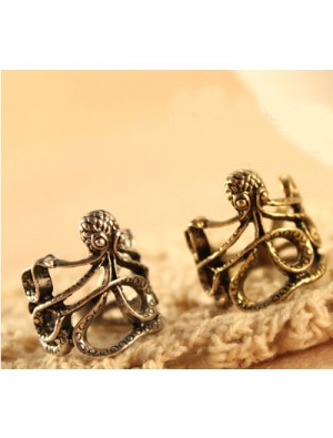 Unique Silver the Octopus Wrap Ring - SIZE 5