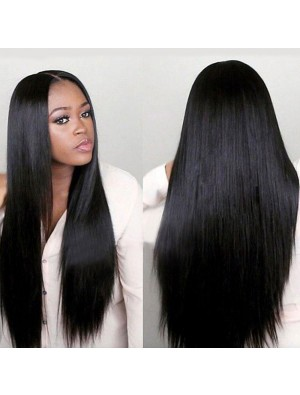 New Middle Separate Long Straight Hair Wig Women's Lace Hair Wigs