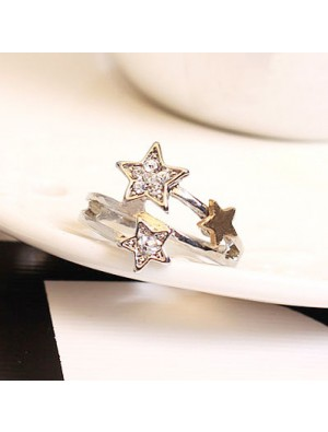 Fashion Rhinestone Meteor Shower Rings