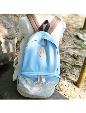 Fresh Simple Lovely Lace Canvas Backpacks