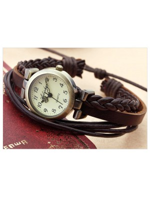 Gentiana stripes retro bracelet watch