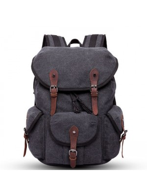 Leisure Thick Canvas Large Three Pockets Multi-function Rucksack Outdoor Travel Backpack