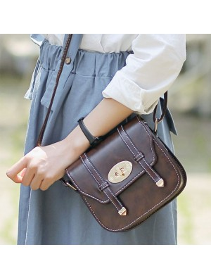 New Buckle Mini British Style Women Messenger Bag Shoulder Bags