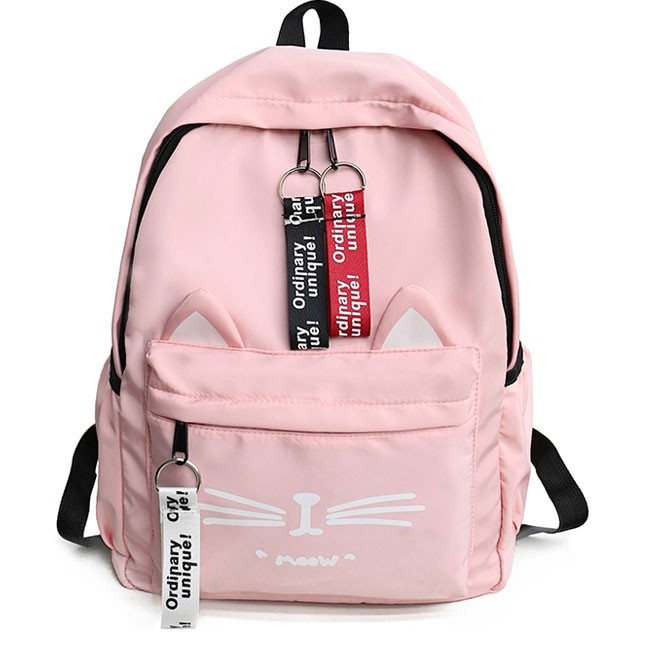 ffd328b7ab4 Cute Large Kitten Canvas Cartoon Cat Student Bag School Backpack only  $33.99 -AtWish.com