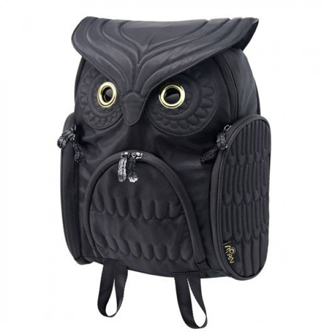 Fashion Street Cool Owl Shape Solid Computer Backpack