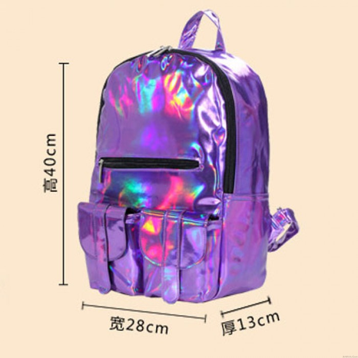 College Style colorful Gradient IPL Backpack