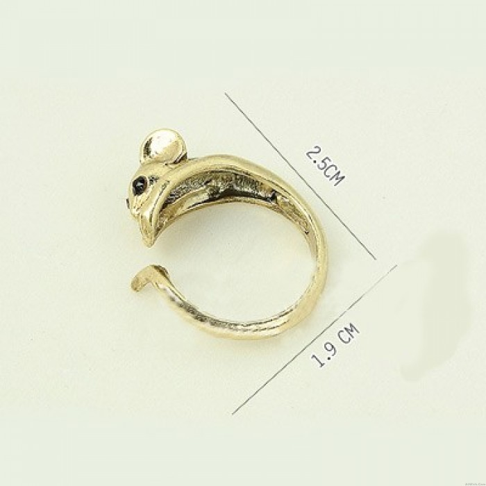 Lovely Mouse Opening Animal Wrap Rings