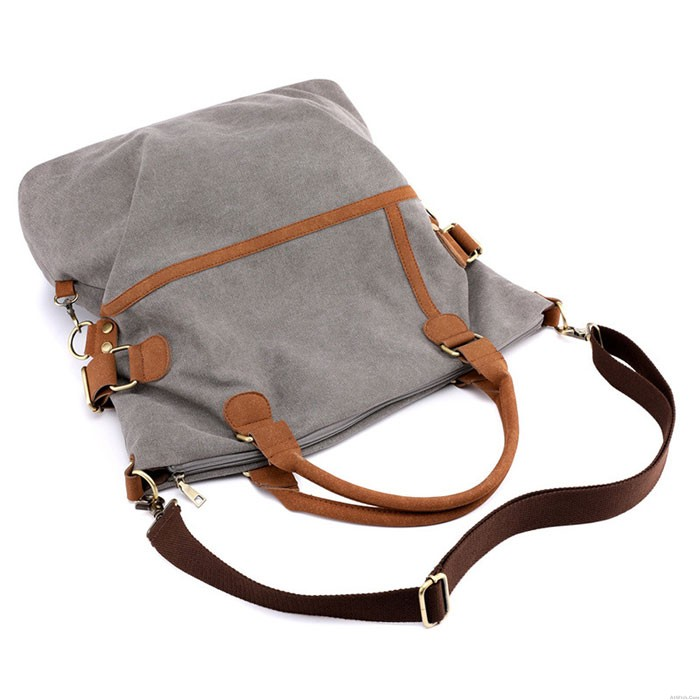 Retro Large-capacity Commuter Casual Multifunction Shoulder Bag Canvas Handbags