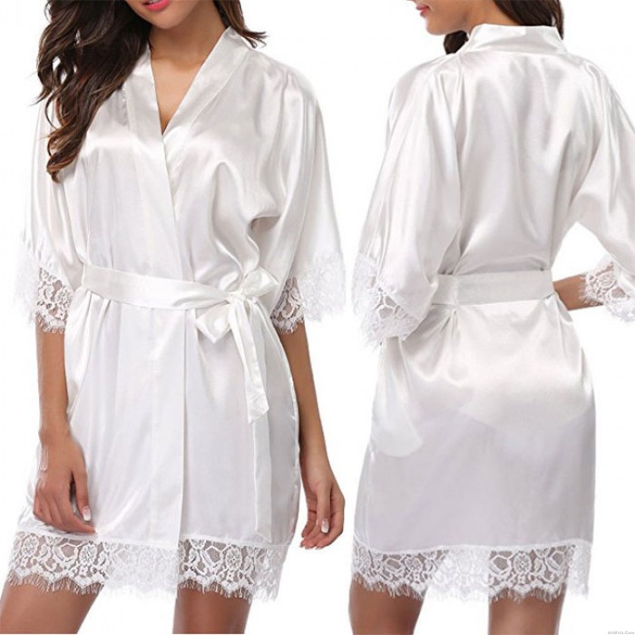 Sexy Pajamas Night Gown Long Sleeve Lace Large Size Nightdress Women Intimate Lingerie