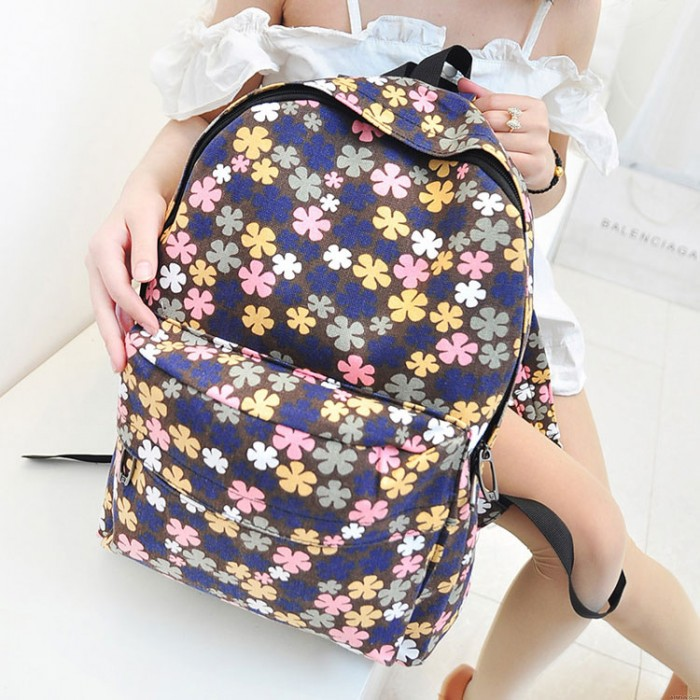 England Style Small Fresh Floral  Backpack