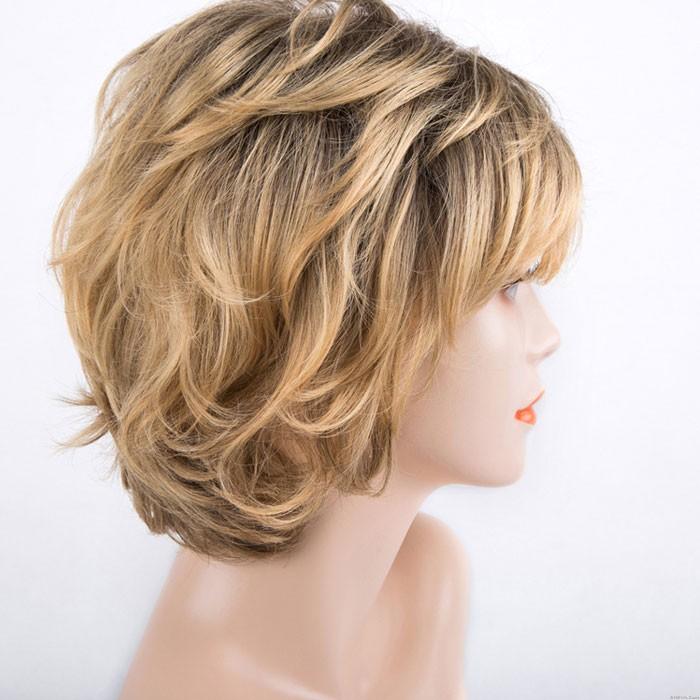 Fashion Golden Short Fluffy Chemical Fiber Headgear Mature Women's Hair Wigs