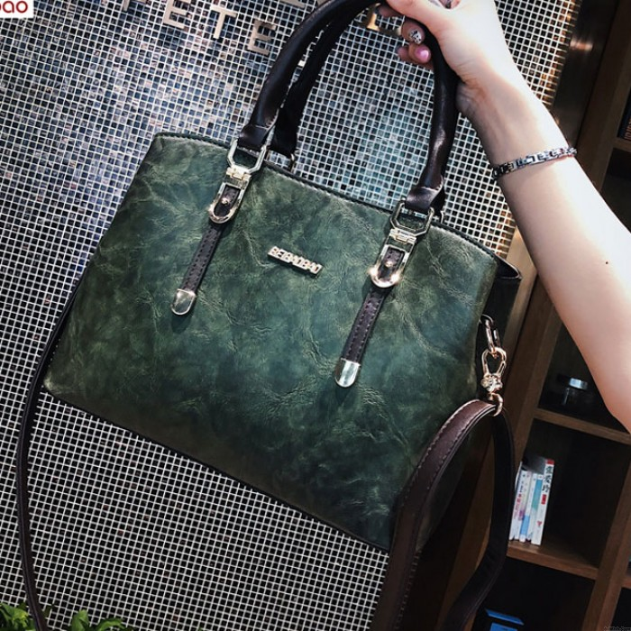Elegant British Style Lady Handbag PU Shoulder Bag