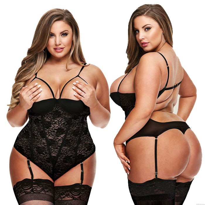Sexy Large Size Lace Sling Conjoined Intimate Lingerie