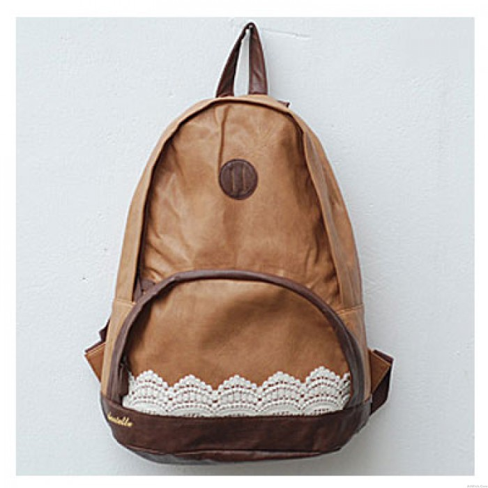 Fresh New Style Lace PU Backpack