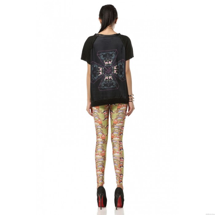 Lovely Lucky Cat Printed Leggings