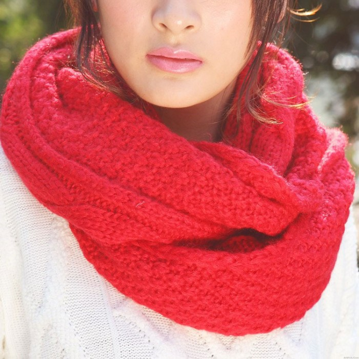 Fashion Cream Twisted Wool Hair Band Knitted Headband Scarf For Lovers