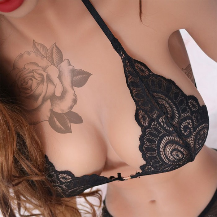 Sexy Lace Hollow Leaves Camisoles Bras Intimate Women Lingerie