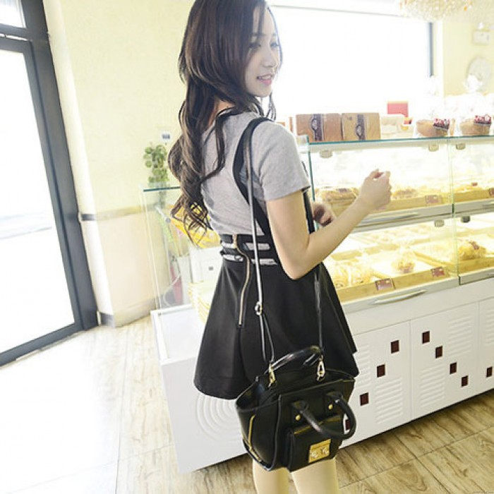 Fashion Minimalist Side Zipper Smiley Handbags