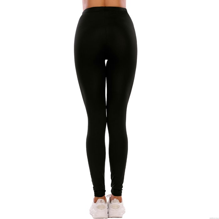 Sexy Black Leopard Print Tight Knee Hole Leggings High waist Elasticity Yoga Pants Teen Leggings