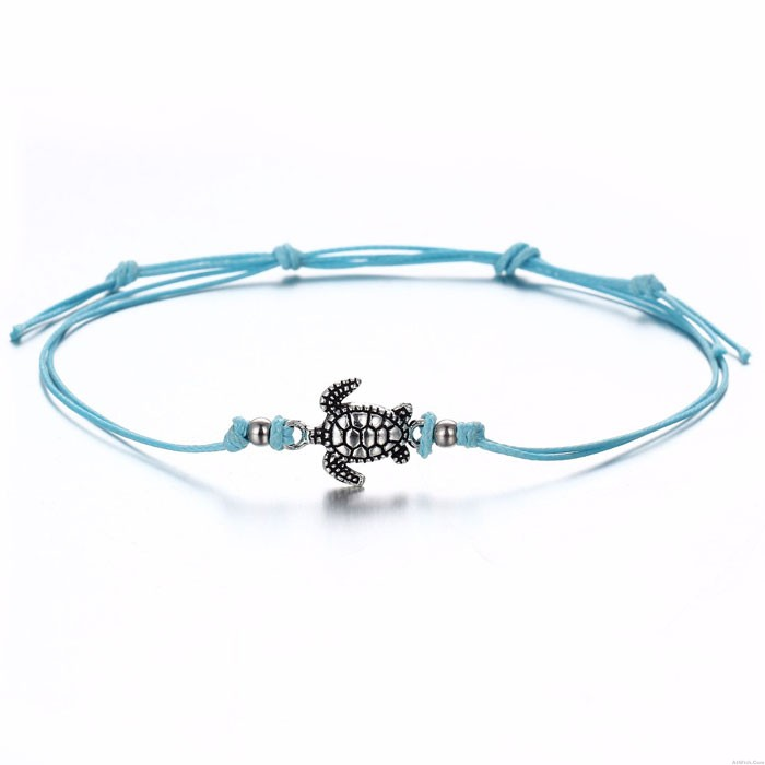 Unique Three Color Tortoise Summer Anklet Foot Accessory Beach Anklet