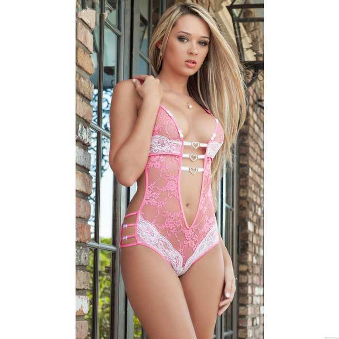 Sexy Lingerie Temptation Three Points  Lace Sexy Perspective Lingerie Set