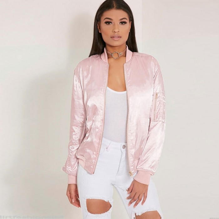 Women's Cool Nice Cotton Candy Color Bomber Jacket