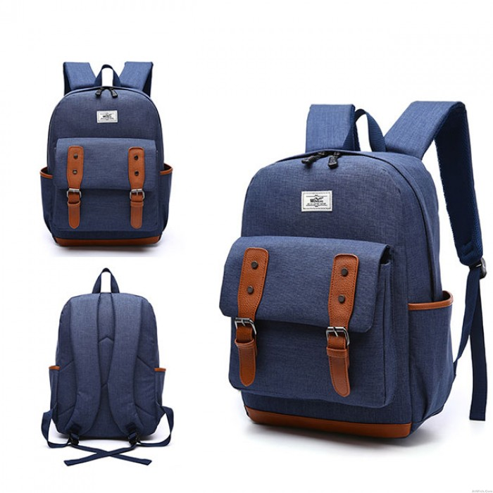 Retro Large British Backpack Students School Bags Outdoor Travel Backpack