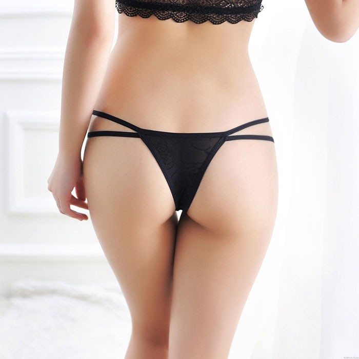 Sexy Hollow Out Women Panties Transparent Low Waist Underwear Lingerie