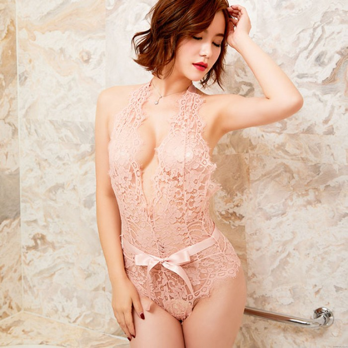 Eyelashes Lace Hollow Out Bodysuit Sexy Lingerie New Allure Lingerie