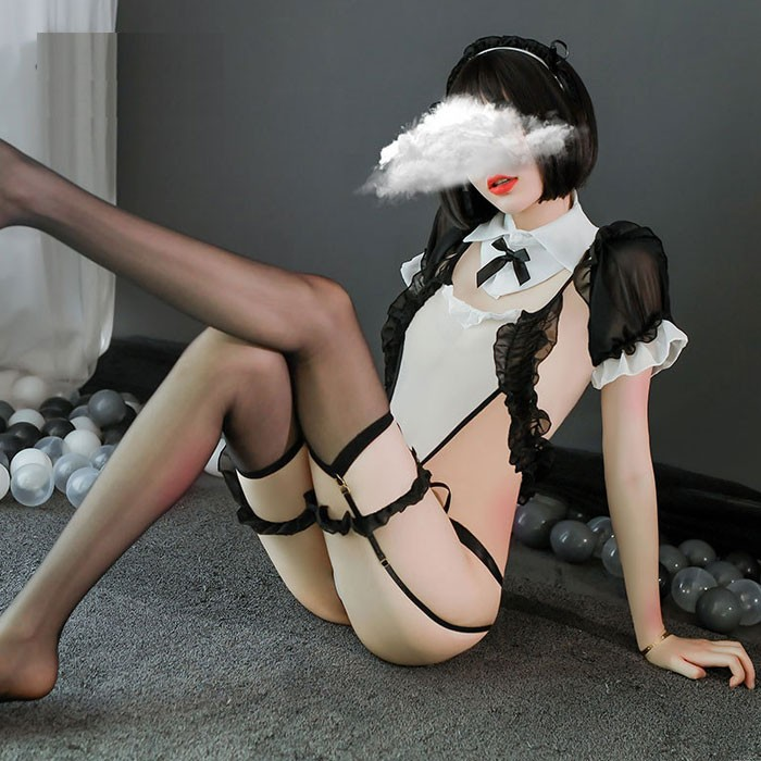 Sexy Sweet Seduction Maid Outfit Uniform Maid Cosplay Conjoined Intimate Teenage Lingerie